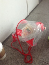 You must put your ramen in the approved bag before leaving the Instant Ramen Museum.